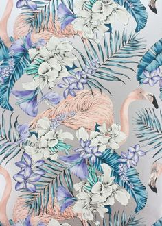 Silver Flamingo Club Wallpaper - Wallpaper - Matthew Williamson