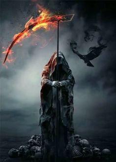 New Dark Art Fantasy Death Ideas Death Reaper, Grim Reaper Art, Grim Reaper Tattoo, The Reaper, Gothic Poster, Fantasy Poster, Dark Creatures, Fantasy Creatures, Dark Fantasy Art