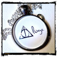 ALWAYS . Glass Pendant Necklace . HARRY POTTER . by girlgamegeek