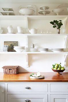 Love the top shelf- WHITE!