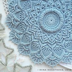 VK is the largest European social network with more than 100 million active users. Crochet Doily Rug, Crochet Mandala Pattern, Crochet Doily Patterns, Crochet Home, Love Crochet, Thread Crochet, Beautiful Crochet, Diy Crochet, Crochet Designs
