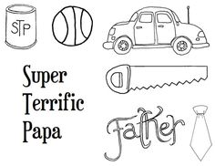 Father's day digistamps Digital stamp clip art by artpixie on Etsy, $8.00