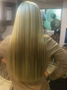 The Back of the Client's Hair after my Wisdom Extensions...Beautiful!