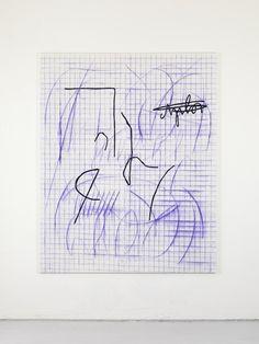 6Jana Schröder, Spontacts, L 11, 2012, 240 x 200 cm, Kopierstift und Öl auf Leinwand