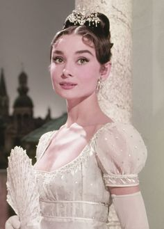 "Audrey Hepburn photographed for ""War and Peace"", 1956"