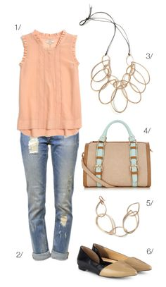how to dress up distressed denim: featuring the melissa statement necklace by megan auman