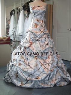 Camo dresses uhm yes on pinterest camo dress camo for Snow camo wedding dresses