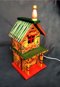 DANCING MUMS BIRDHOUSE Night Light A Hand Painted by KrugsStudio, $60.00