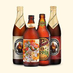 Kit Degustação de Cervejas de Trigo: Franziskaner Hefe Weissbier Dunkel (500ml), Franziskaner Hefe Weissbier Hell (500ml), Cerveja Bohemia Bela Rosa (600ml), Cerveja Colorado Appia (600ml). De R$55,80 por R$38,90!