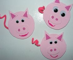 Farm animal crafts for kids are a surefire hit for toddlers and preschoolers. Farm Animal Crafts, Pig Crafts, Farm Crafts, Animal Crafts For Kids, Toddler Crafts, Art For Kids, Crafts Toddlers, Farm Activities, Barn Wood Crafts