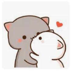 Cute Couple Cartoon, Cute Cartoon Pictures, Cute Love Pictures, Cute Love Cartoons, Cute Bear Drawings, Cute Cartoon Drawings, Kawaii Drawings, Gif Lindos, Memes Lindos