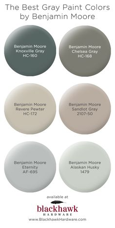 We're in love with these best six gray paint colors by Benjamin Moore