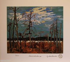 Tom THOMSON Group of Seven Tamarack Swamp LTD art print MINT