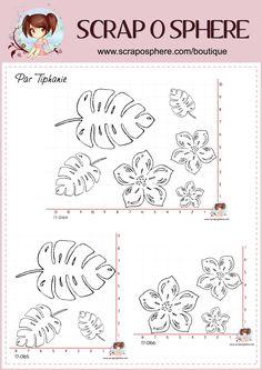 Tampons fleurs et feuilles par Tiphanie pour la Scraposphère