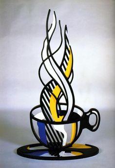 1977 Roy Lichtenstein, Cup and Saucer II, Pop Art. #USA @deFharo