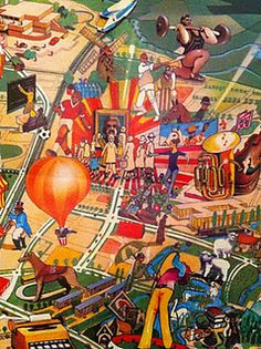 Artist's impression of Milton Keynes c1972