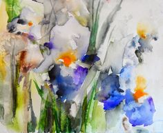 FLOWERS #2...Karin Johannesson, Contemporary Watercolor