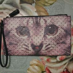 Wristlet With Cat Picture