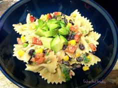 yummy recipe for healthy pasta salad Best Ever Pasta Salad, Healthy Pasta Salad, Summer Pasta Salad, Healthy Pastas, Healthy Dishes, Healthy Eating, Healthy Foods, Lunch Recipes, Healthy Dinner Recipes