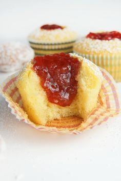 Jelly Donut Cupcakes | Bluegrassbites.com