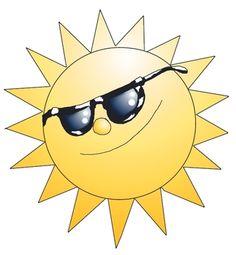Seasons clipart – Summer: Sun