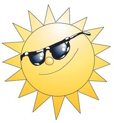 Seasons clipart – Summer: Sun