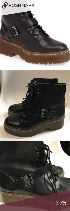 ‼️sale‼️ Topshop Topshop combat boots in excellent pre-own condition  ✔️ Bundle & save  ✔️ offer are always welcome  ✔️ No offer will be declined  ✔️ No trade or hold   Note: No offer will be declined. I will accept or counter with my lowest   ———————————————— Xoxo, Tatyana Topshop Shoes Combat & Moto Boots