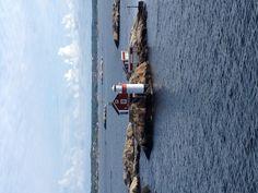 Lighthouse on islet (Schäre) in the driveway (Göta) to Gothenburg
