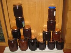 Jams and Preserves and Pickling - My Cute Baker I have not been baking a lot, we have been making jams, preserves and pickling! Most of the fruit and vegetables are from our own garden! Pickling, Preserves, Nail Polish, Baking, Fruit, Vegetables, Garden, How To Make, Chow Chow