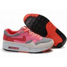 http://www.asneakers4u.com/ 308866 030 Nike Air Max 1 Red Grey D03020
