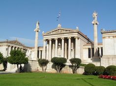 The University of Athens probably looks a lot like ancient Athens used to look.