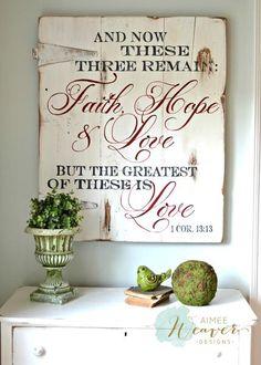 """""""Faith, Hope"""