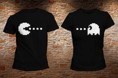 PLAYERAS PACMAN PARA PAREJAS. Realiza tu pedido en   www.facebook.com shopkevs - www.kevshop.com.mx 2a4f1ede10571