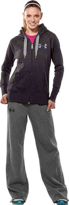 under armour zip-up hoodie and sweats Could so wear this to work everyday... Oh wait I do!!!!! Love my job!