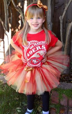 San Francisco 49ers Tutu & Matching Headband  by PinkLaundryEvts, $27.50