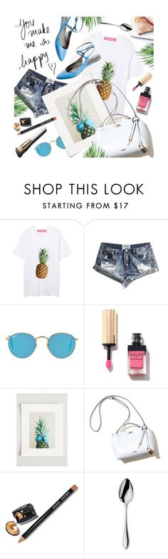 """Summer Brights"" by julesdiaries ❤ liked on Polyvore featuring One Teaspoon, Ray-Ban, Yves Saint Laurent, Garance Doré, Bobbi Brown Cosmetics, Robbe & Berking, Madewell, ootd and summerstyle"