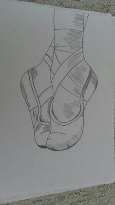 Drawing ballet shoes