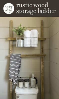 3 Easy (& practically free) DIY Rustic Wood Projects for your Bathroom   Jenna Sue Design Blog   Bloglovin'