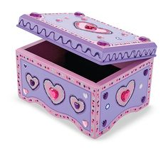Decorate your own jewelry box! Arts & crafts activity for girls. By Melissa and Doug.  $12.99