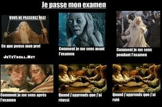 """Je passe mon examen"""