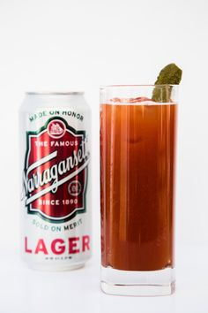 ... original bloody mary featuring Bully Boy vodka and 'Gansett Lager More