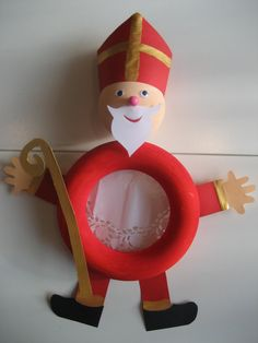 Easy Crafts For Kids, Christmas Crafts For Kids, Christmas Wreaths, Diy And Crafts, St Nicholas Day, Theme Noel, Types Of Craft, Santa, December