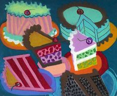 Thiebaud: this post features a ton of cake artwork.