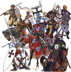 Guerreros teutónicos en el siglo XIV.