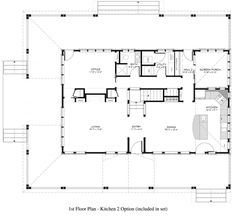Country Style House Plan - 3 Beds 3 Baths 2100 Sq/Ft Plan #917-12 Floor Plan…