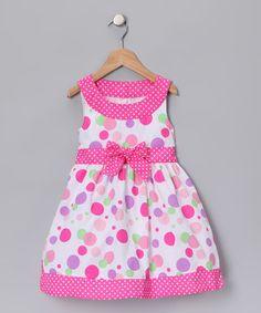 Longstreet Pink Polka Dot Dress - Toddler & Girls | zulily