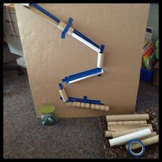 Inquiring Minds: Mrs. Myers' Kindergarten: Collaborative Marble Mazes and Marble Runs
