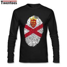 c77026c9fd0 Retro Jersey Flag Fingerprint Men Bottoming T-shirt Geek Custom Long Sleeve  Valentine s His And Hers T-shirts