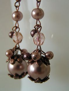 Tutorial ~ To make these Pretty Earrings