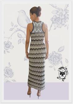 Mais um Vestido Longo de Tricô Mania de Sophia!